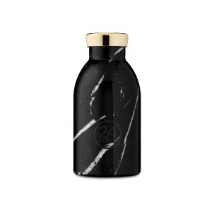 Botella Clima Black Marble 330ml
