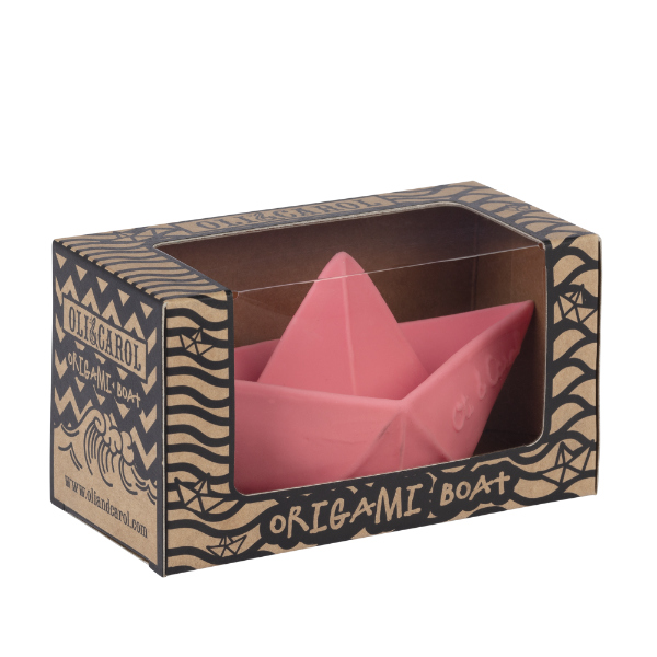Barco Origami Rosa