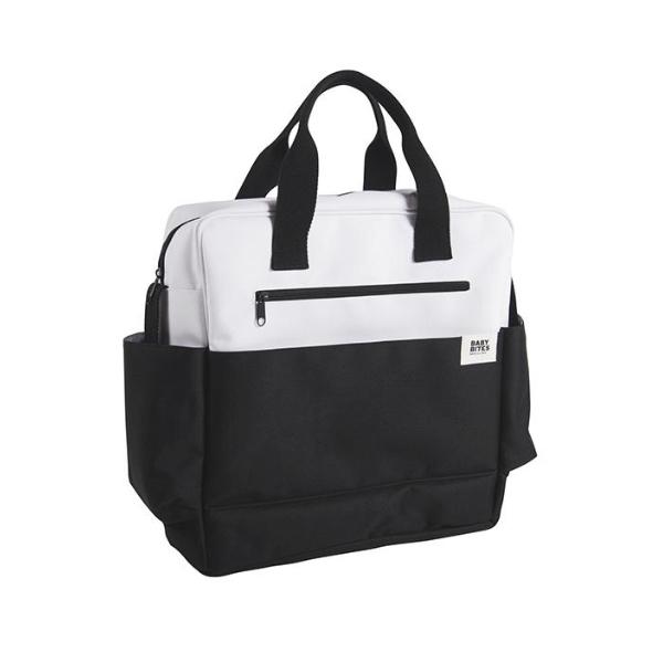 Bolsa Cochecito Blanco + Negro