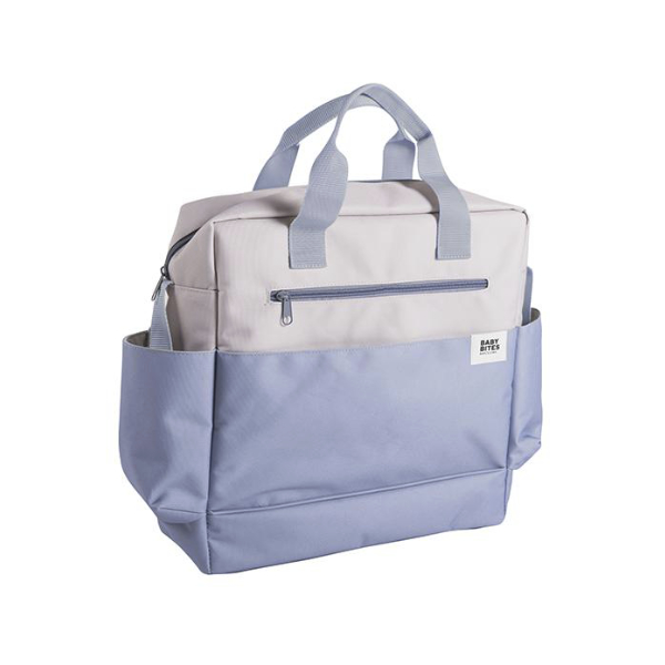 Bolsa Cochecito Gris + Azul