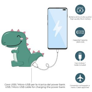 Power Bank Dino