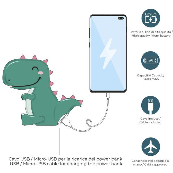 Power Bank Dino