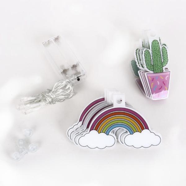 Guirnalda Cactus y Arcoíris