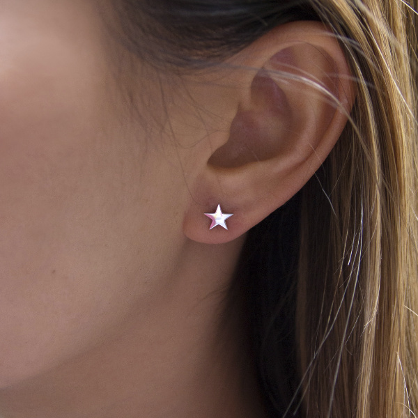 Pendientes Estrellas Plata