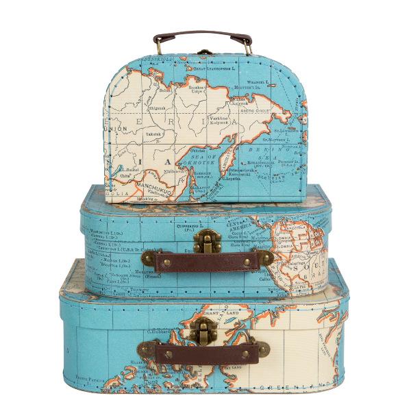 Set 3 maletas mapas