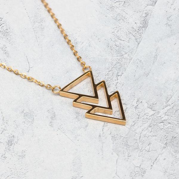 Collar triangulo Oro