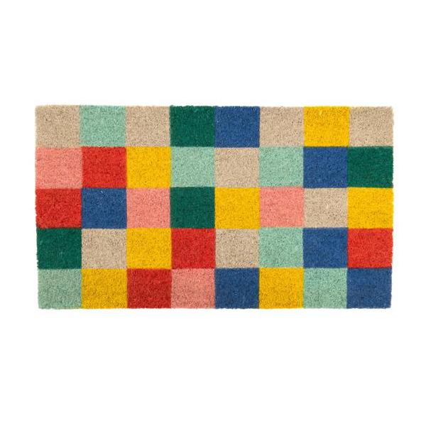 Felpudo Cuadros Multicolor