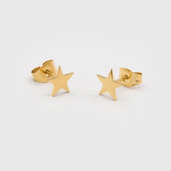 Pendientes Estrellas Oro