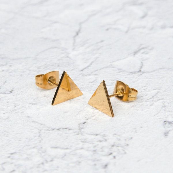 Pendientes Triángulo Oro