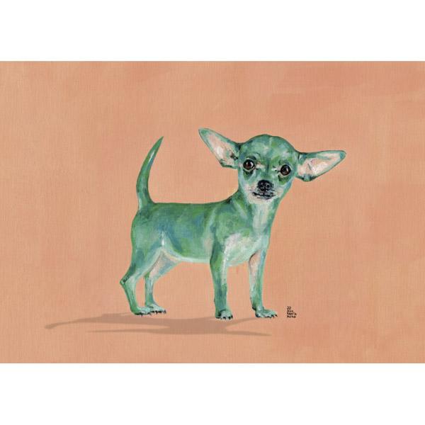 Lámina Perro Verde